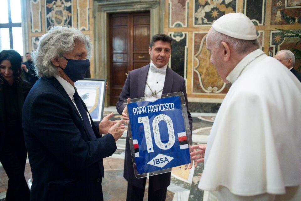Un altro momento della giornata in Vaticano