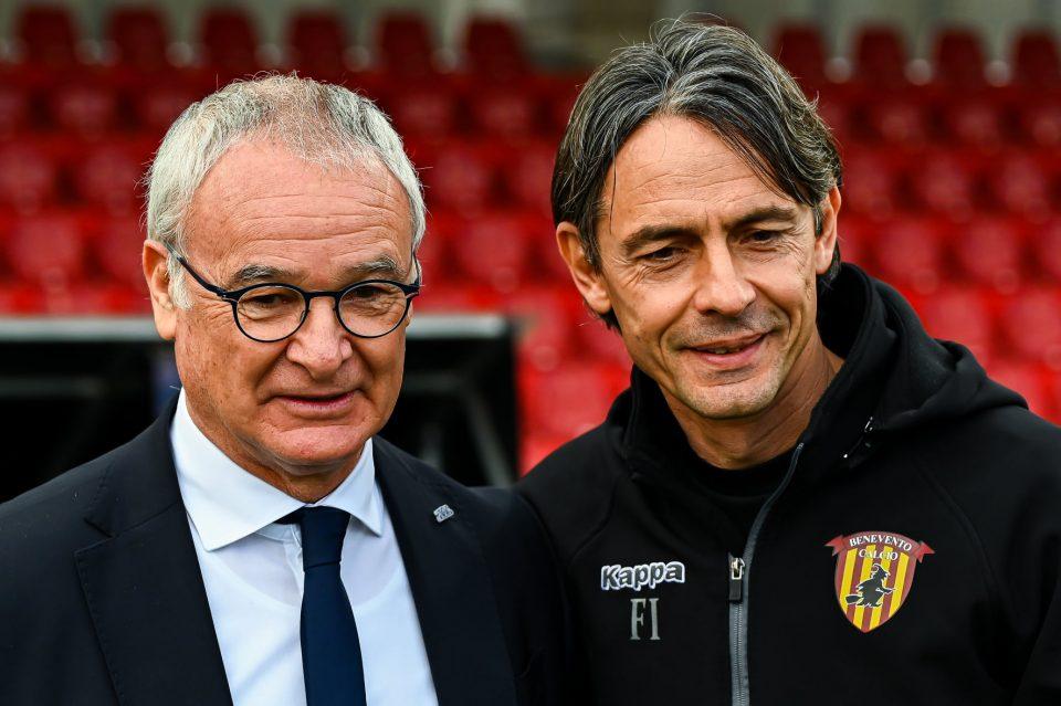 Ranieri e Inzaghi prima della partita