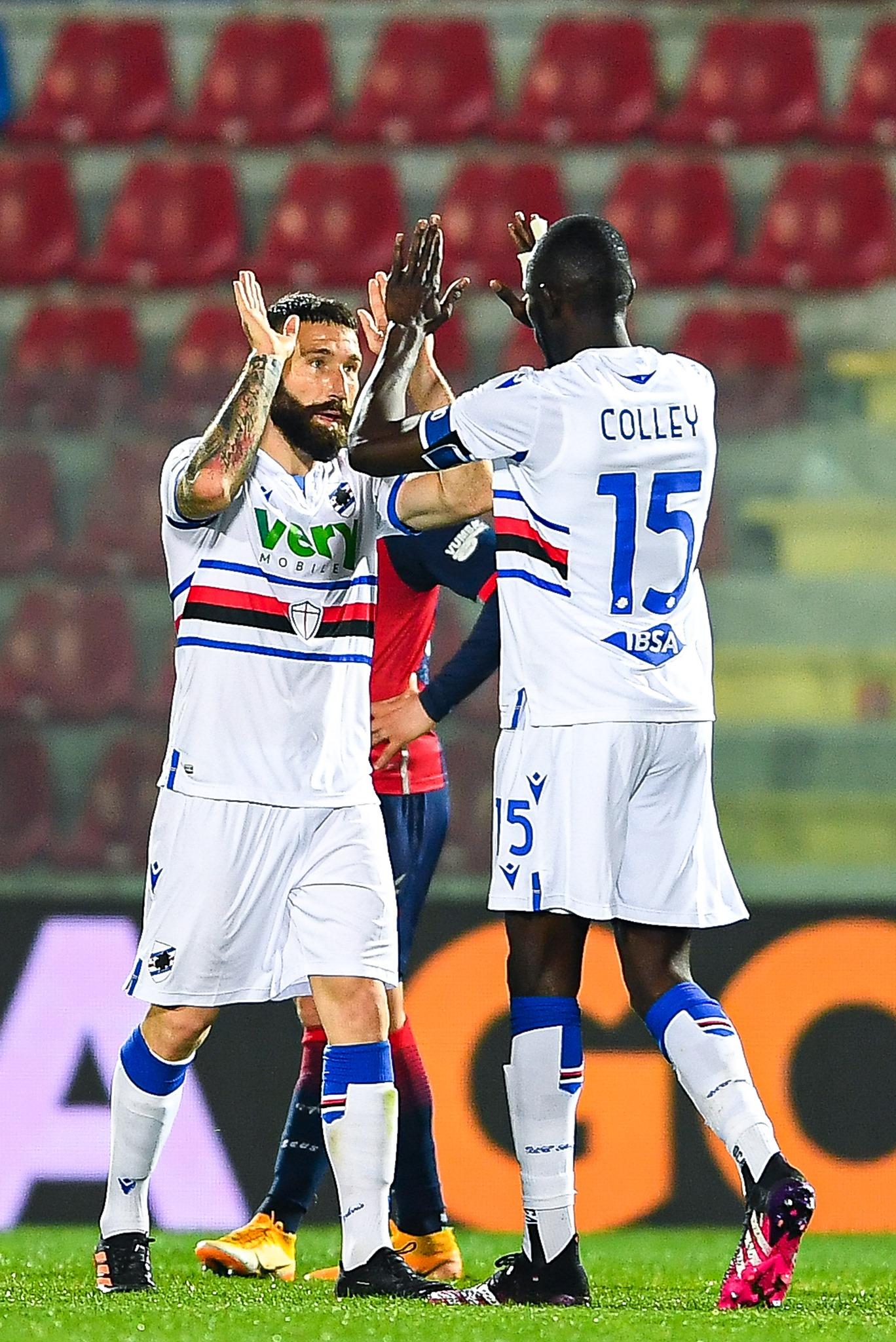 Colley e Tonelli festeggiano a fine match