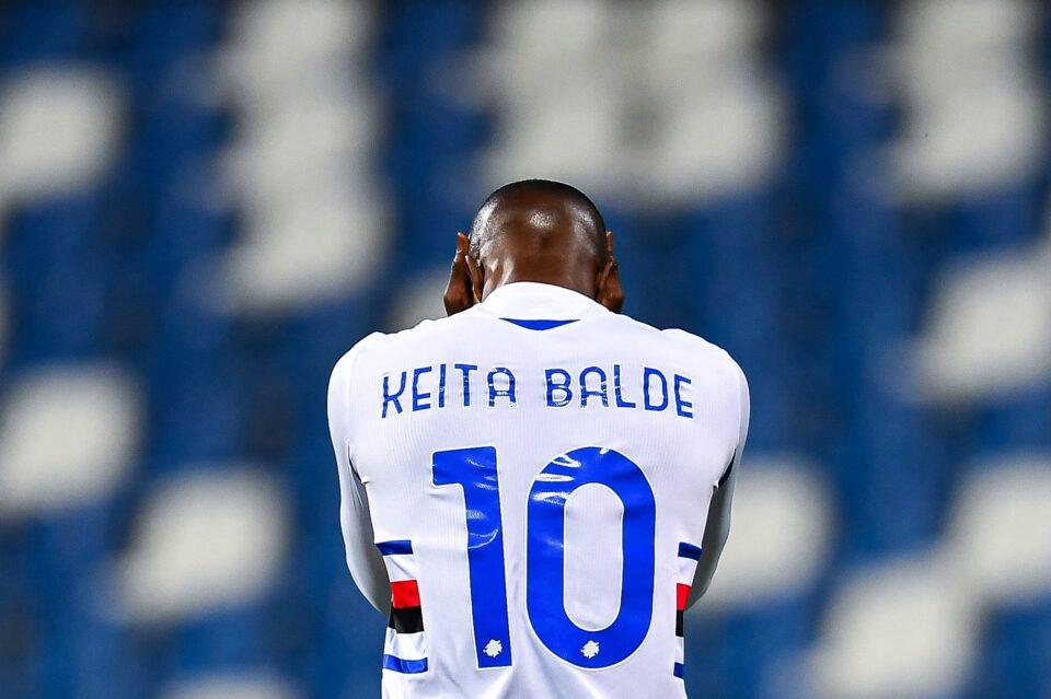 La disperazione di Keita Baldé dopo un'azione non sfruttata