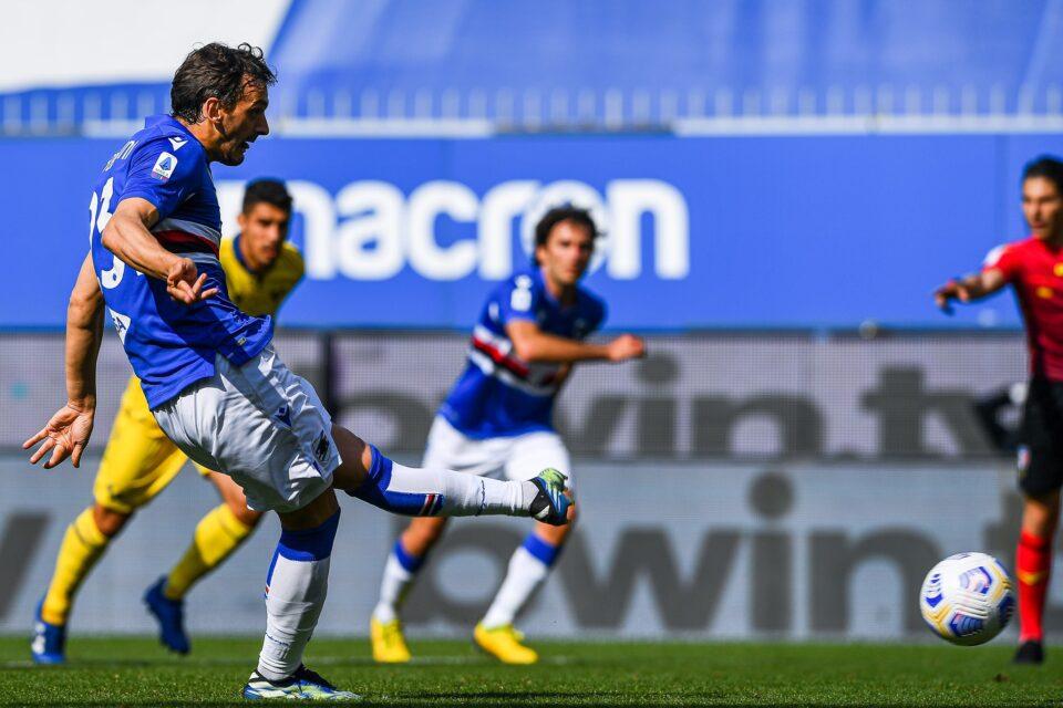 Manolo Gabbiadini firma il 2-1 doriano