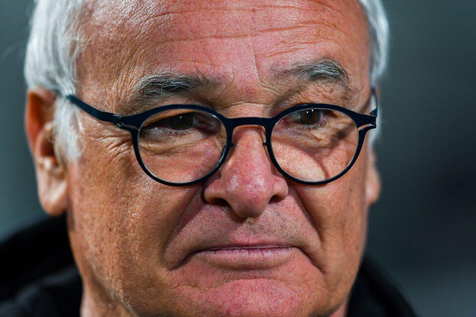 Un primissimo piano di Ranieri a bordo campo
