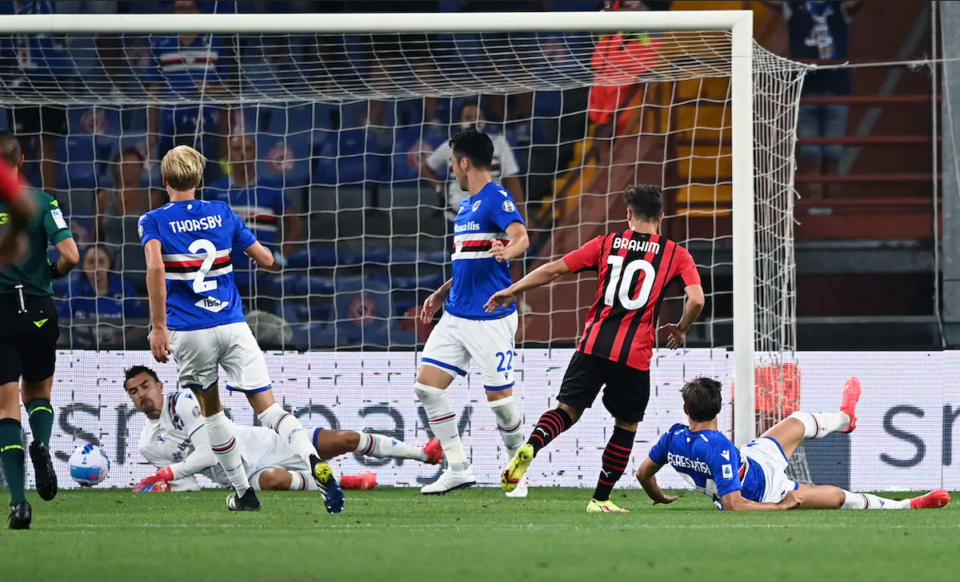 Il gol del Diavolo con Brahim Díaz